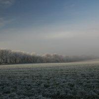 Landschaft zum Ausreiten im Winter